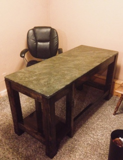 Caleb's desk.