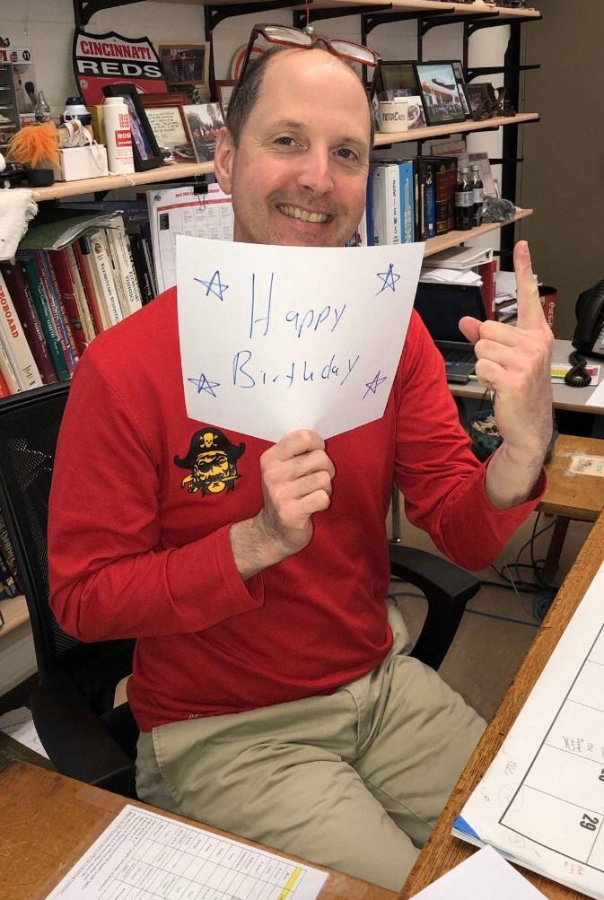 PK still encourages me and sends birthday greetings. Courtesy of Katey Wormsbecher.